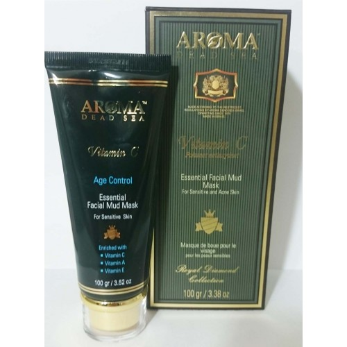 Aroma Dead Sea Vitamin C Essential Facial Mud Mask for Sensitive and Acne Skin 100gr