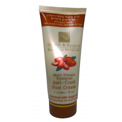 H&B Dead Sea Anti-Crack Foot Cream with Argan Oil 180ml/6.12Fl.Oz