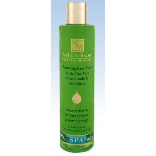 H&B Dead Sea Face Toner with Aloe Vera Chamomile & Vitamin A 250ml