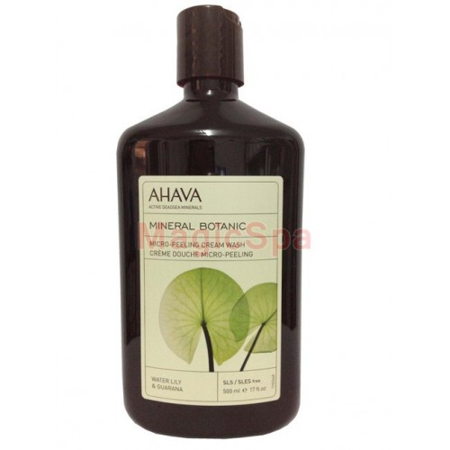 Ahava Mineral Botanic Micro-Peeling Cream Wash: Water Lily, Guarana 500ml